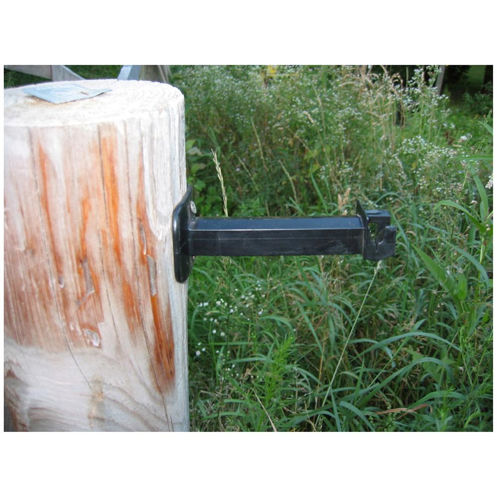 Wood Post Extending Electric Fence Insulators Black 25