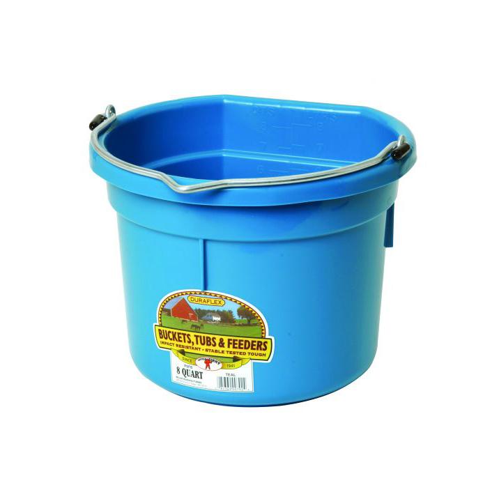 Flat Back Bucket 8 Qt Western Ranch Supply